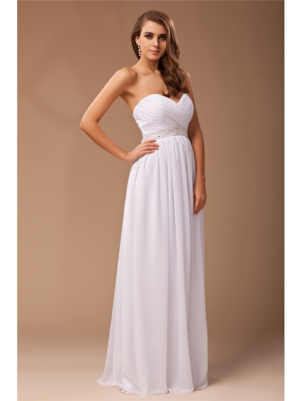 Sheath/Column Sweetheart Chiffon Dress