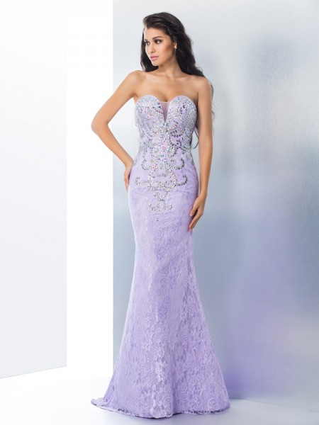 Trumpet/Mermaid Sweetheart Beading Lace Dress