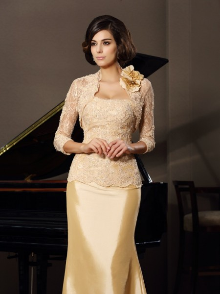 Elegant Lace 3/4 Sleeves Hand-made Flower Special Occasion Wrap