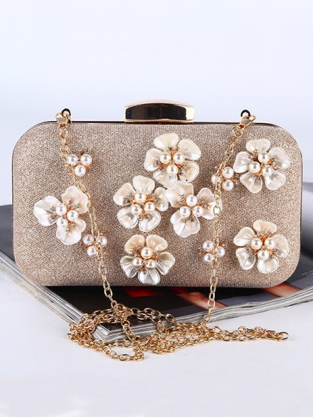 Pretty Pearl Handbags With Flowers