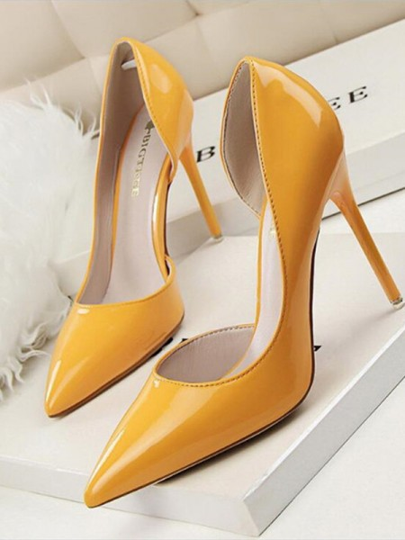 Ladies's Stiletto Heel PU Closed Toe High Heels