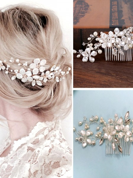 Very Nice Czech Pearl Headpieces