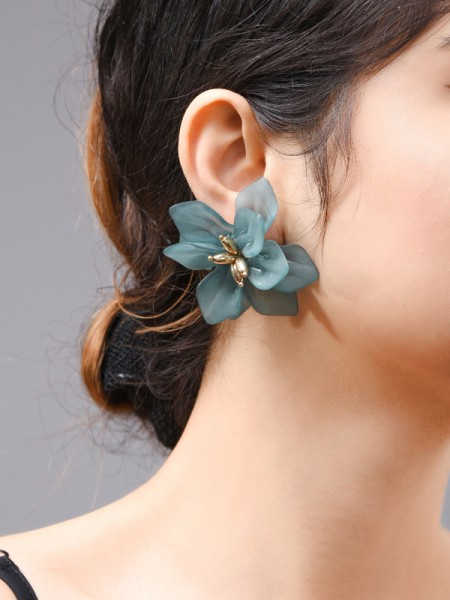Fashion Acrylic With Flowers Earrings For Women