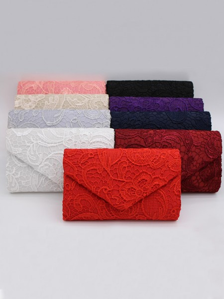 Pretty Lace Handbags With Flowers